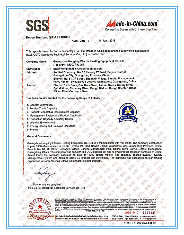 SGS Factory Verified